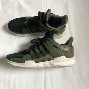 EQT support Adv adidas olive green sneakers